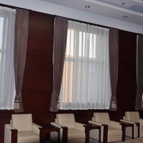 商河会议室布艺窗帘
